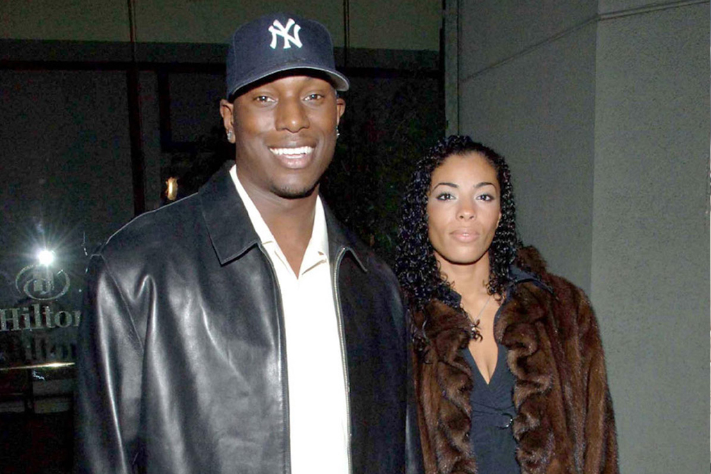 Tyrese with ex-wife