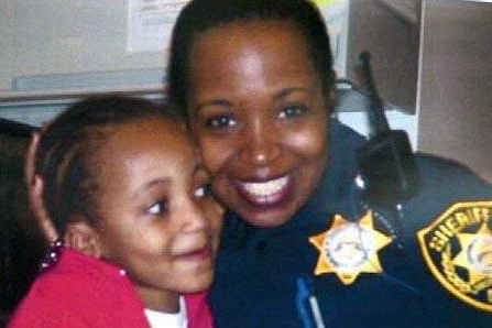 Joy Deleston with daughter Jelani.