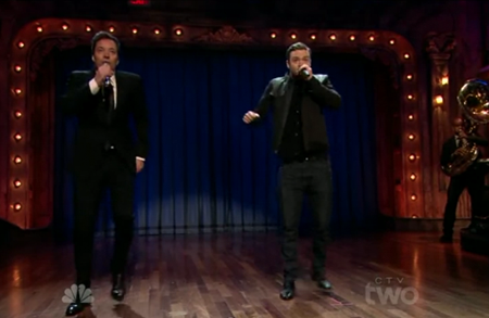 Jimmy Fallon and Justin Timberlake reunite for another rap melody rendition