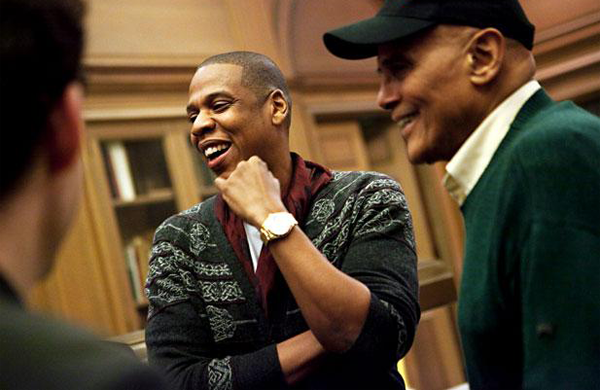 Jay-Z with Harry Belafonte