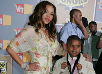 Faith Evans with her son Christopher Jr.