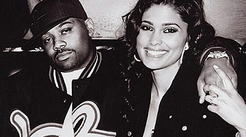 Dame Dash with wife Rachel Roy
