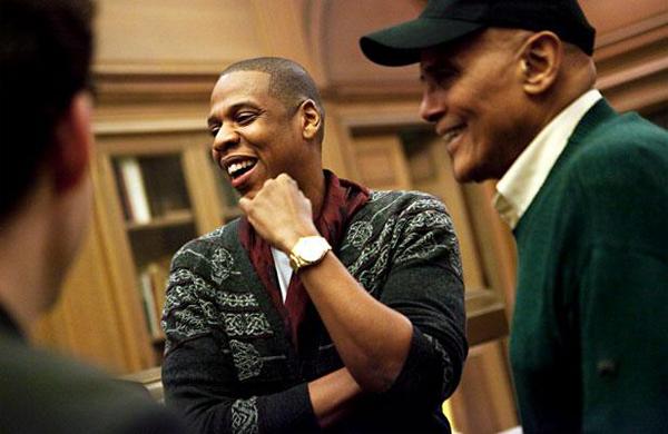 Jay-Z with Harry Belafonte