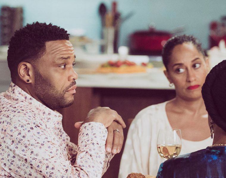 Anthony Anderson, with Blackish co-stars Tracee Ellis Ross and Jenifer Lewis