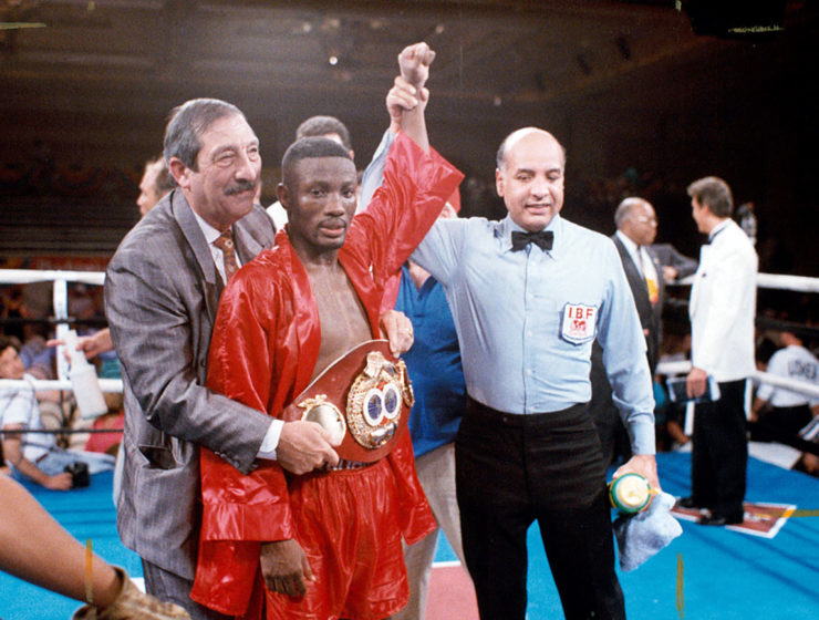 Pernell Whitaker post-fight