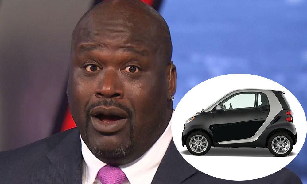 Shaq in a Smart Car, what!?