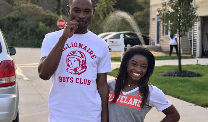 Tevin Biles-Thomas with sister, Simone Biles