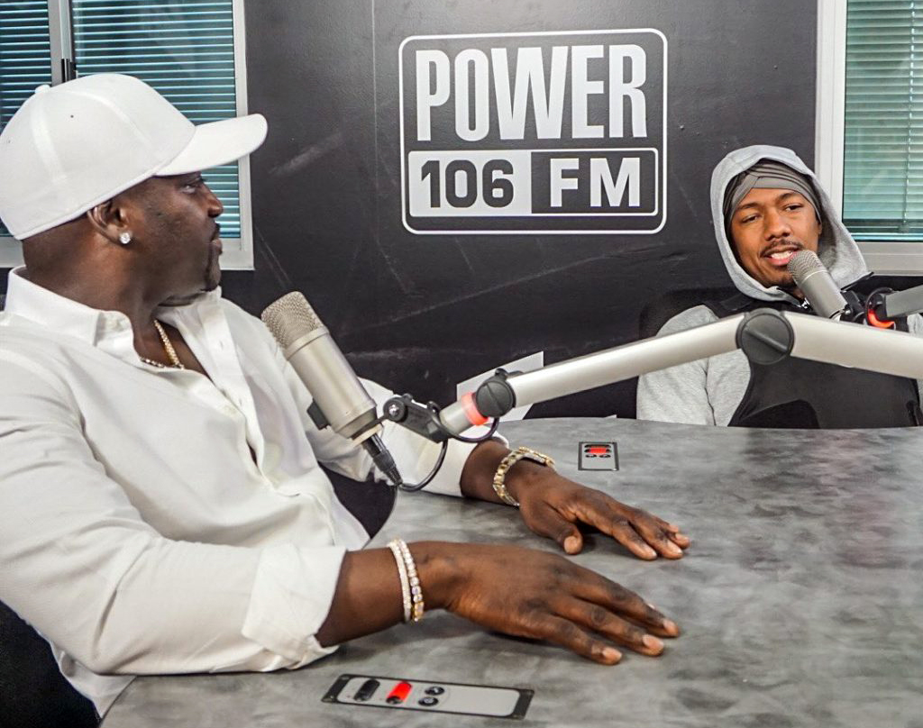 Akon at The Nick Cannon Morning Show