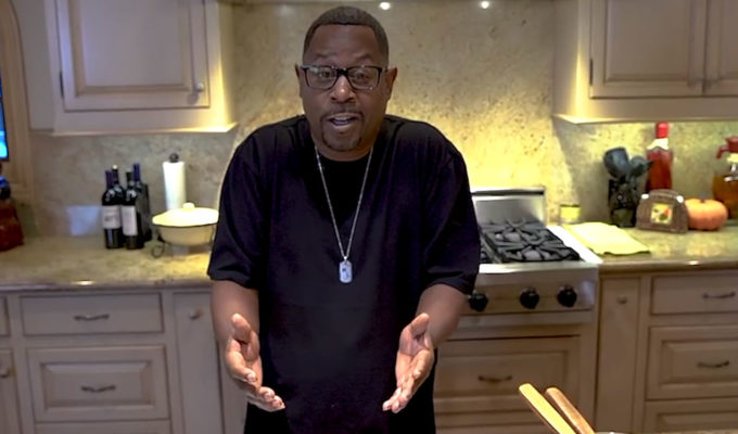 Martin Lawrence cooking