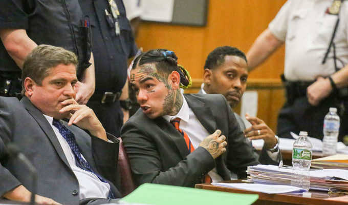 Tekashi 6ix9ine in court