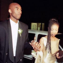 Kobe Bryant at prom with Brandy