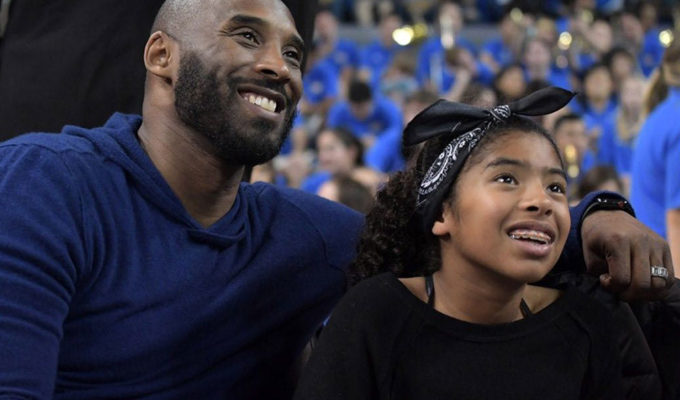 Kobe Bryant with daughter Gianna