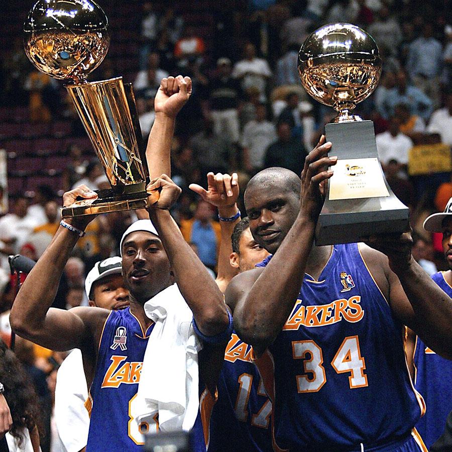 Kobe Bryant, Shaquille O'Neal 3-peat in 2002 NBA win