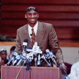 Kobe Bryant enters NBA draft