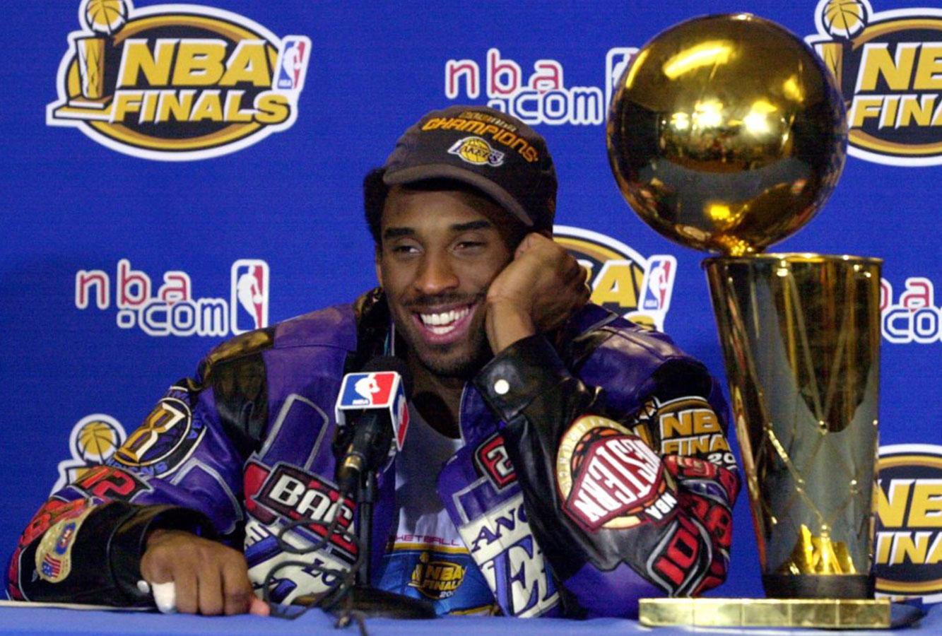 Kobe Bryant 2001 NBA title win