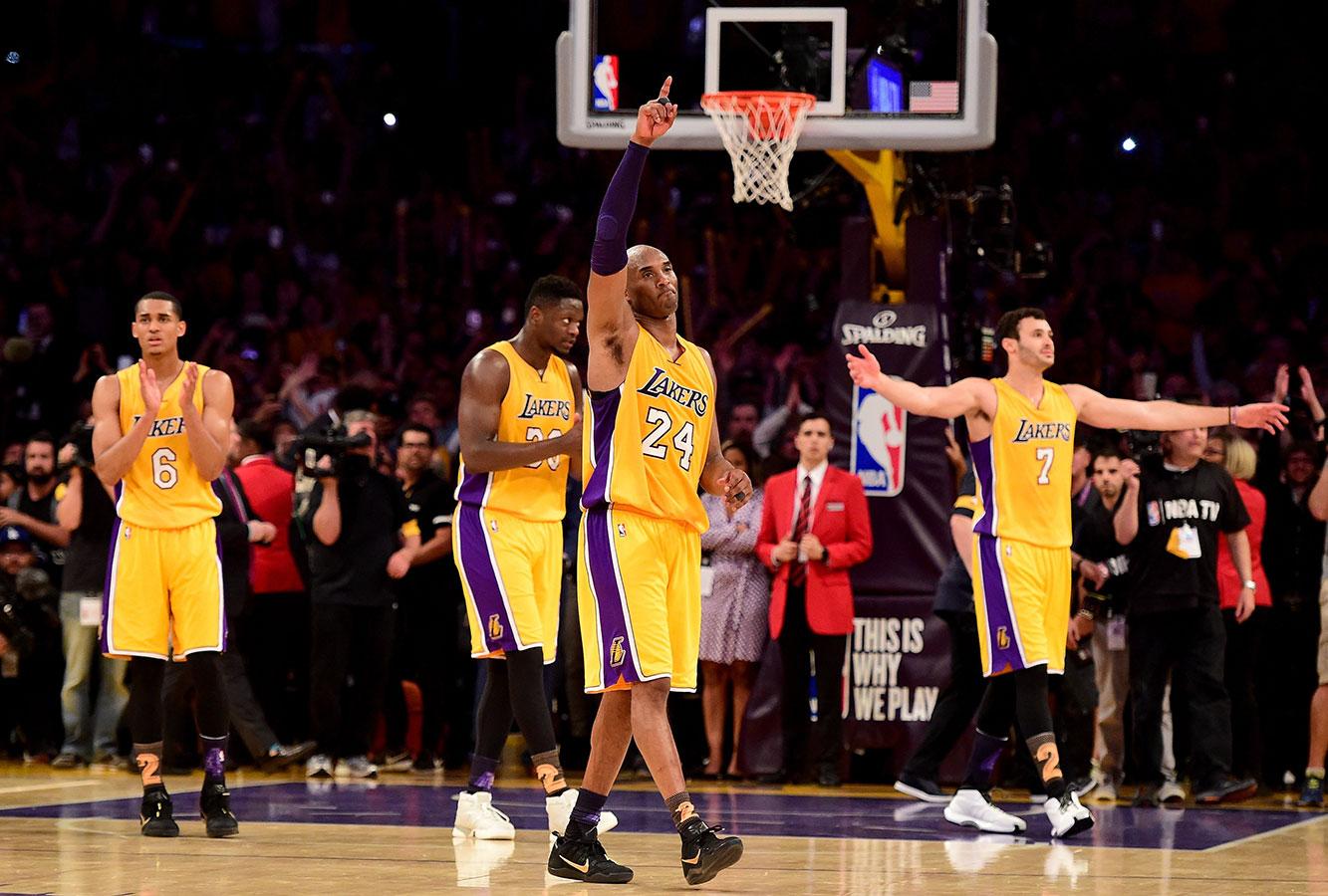 Kobe's last game at Staples Center