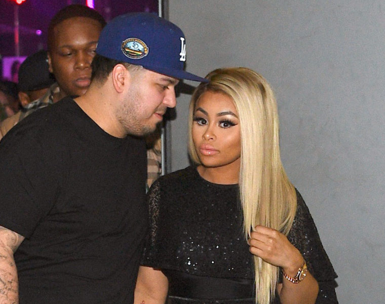 Rob Kardashian with Blac Chyna