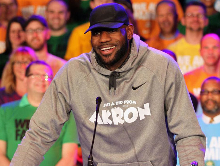 Lebron James at I Promise school
