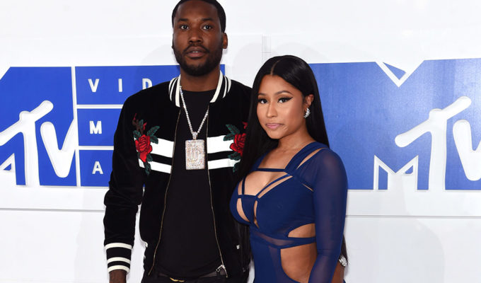 Meek Mill and Nicki Minaj at the 2016 MTV Video Music Awards