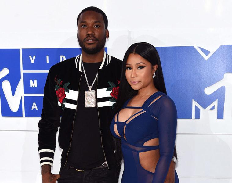 Meek Mill and Nicki Minaj at the 2016 MTV Video Music Awards