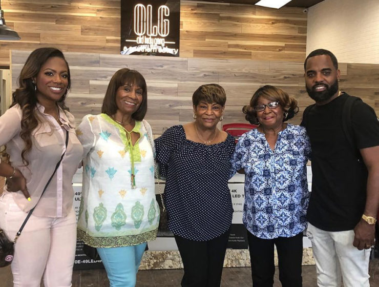 Kandi Burress and family at Old Lady Gang