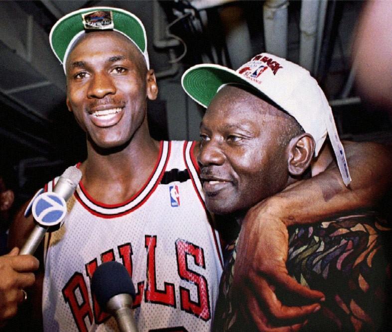 Michael Jordan with his father, James Jordan