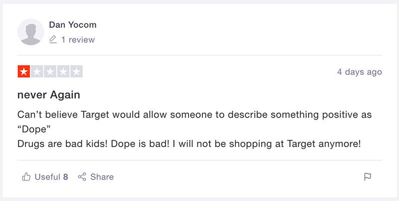 Trustpilot comment