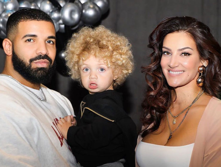 Baby Adonis with parents, Sophie Brussaux and Drake