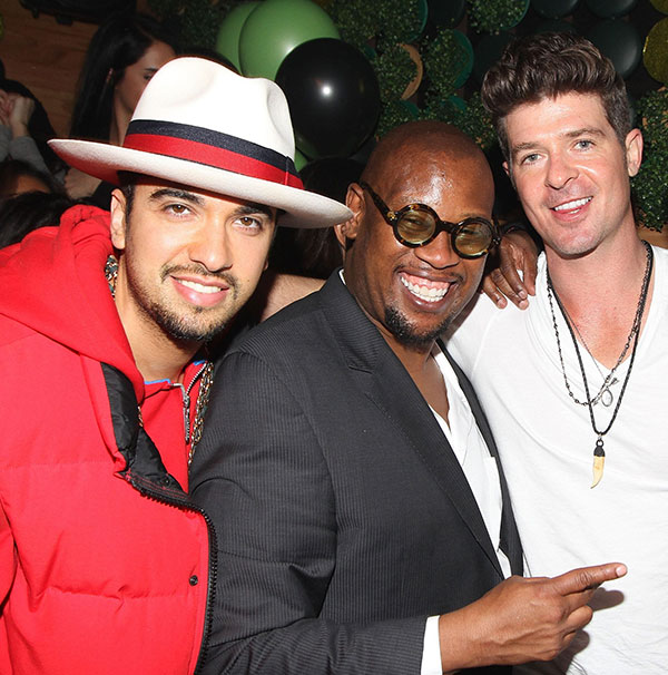 DJ Cassidy, Andre Harrell and Robin Thicke