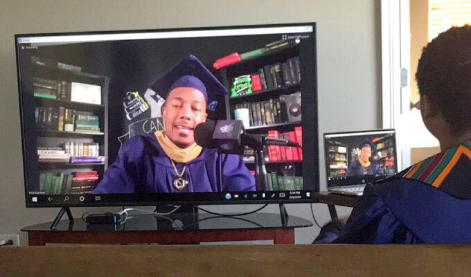 Nick Cannon @ Howard University graduation