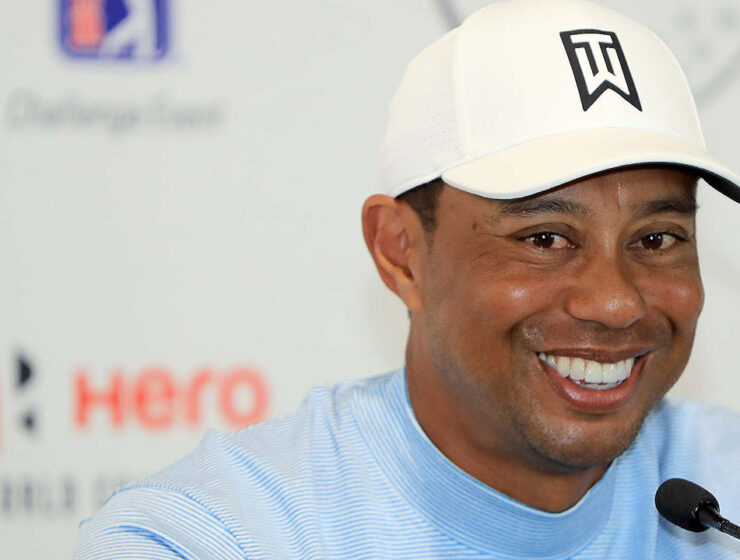 Tiger Woods shit eating grin