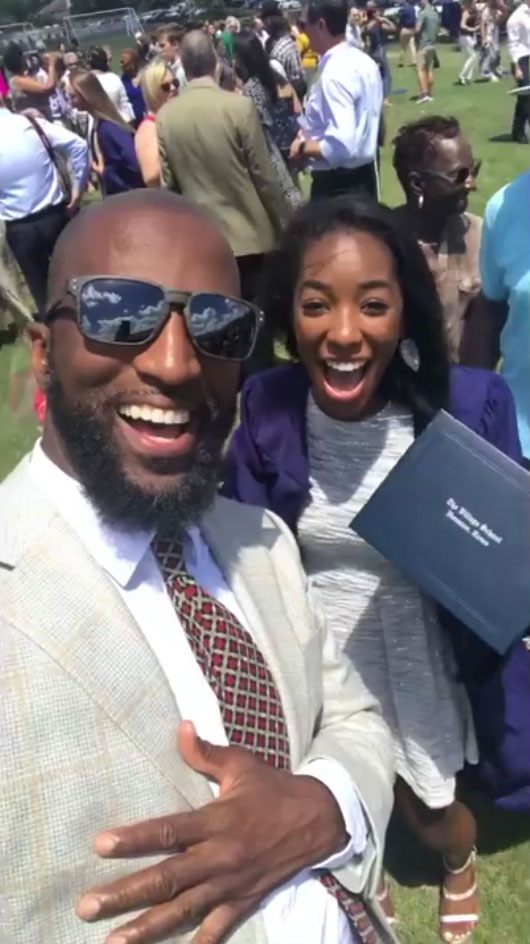 Rickey Smiley with daughter Aaryn Smiley