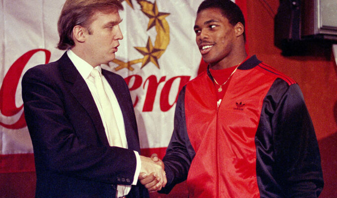 Donald Trump and Herschel Walker