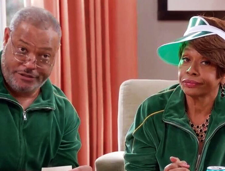 Laurence Fishburne and Jenifer Lewis, Black-ish