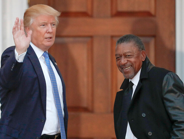 Donald Trump with Robert Johnson