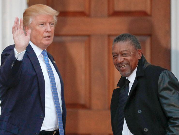 Donald Trump with Robert Johnson