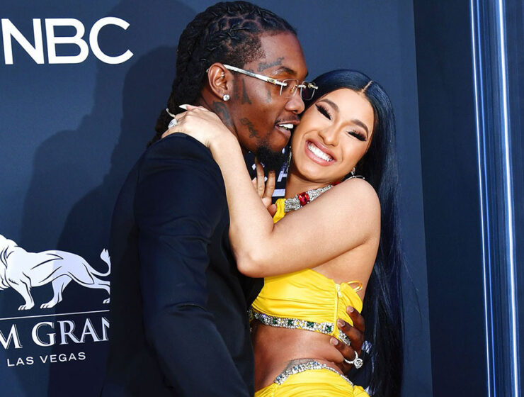 Offset and Cardi smile