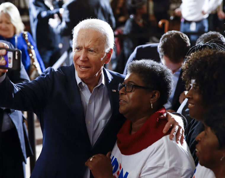 Joe Biden & Supporter