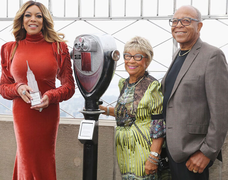Wendy Williams with parents Shirley and Thomas