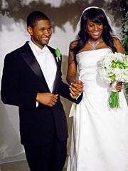 Usher with former bride and current divorcee Tameka Foster