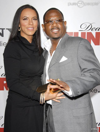 Martin Lawrence with wife Shamicka Gibbs'.