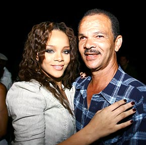 Rihanna & her dad, Ronald Fenty